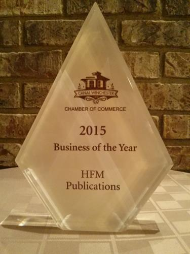 2015 Business of the Year Award - CW Chamber of Commerce