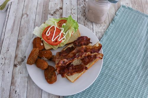 BLT with Fried Zucchini & a Milkshake!