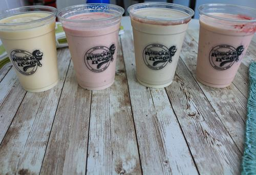 Just a few of our Milkshake Flavors!