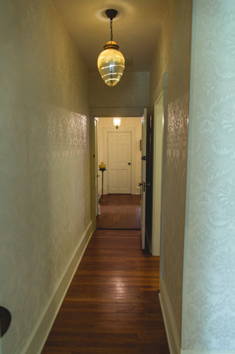 Hallway with Bathroom for The John Daley Room