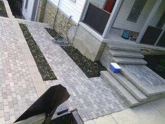 Driveway and entry project 2015
