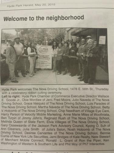 Hydepark Opening post in the Newspaper