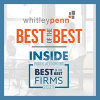 """Whitley Penn Named a """"Best of the Best"""" Firm by INSIDE Public Accounting"""