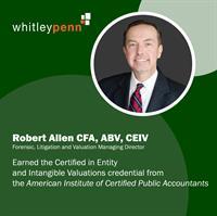 Robert Allen, CFA, ABV, Earns CEIV™ Credential