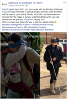 'Bird Box' Challenge Creates a Positive Opportunity for Lighthouse for the Blind of Fort Worth to Raise Blind Awareness