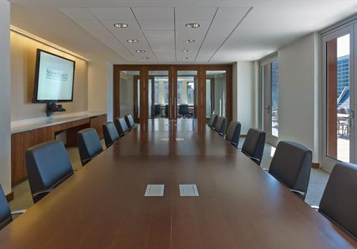 The Kleber Miller Conference Center is a hospitality-focused area, providing clients with first class working, meeting & entertainment space overlooking Sundance Square Plaza.