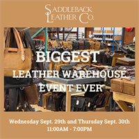 Texas Leather Company Hosts Warehouse Sale, Community Event and Book Drive Two-Day Saddleback Leather Sale in Fort Worth Features Products Up To 75% Discount