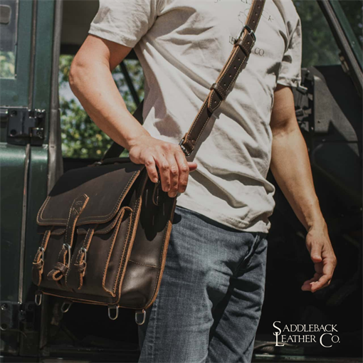 Thin Front Pocket Leather Briefcase