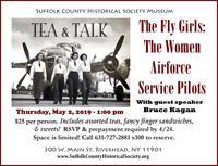 """TEA & TALK ~ The """"Fly Girls"""": Women Airforce Service Pilots of World War II"""