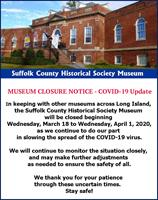 MUSEUM CLOSURE ANNOUNCMENT