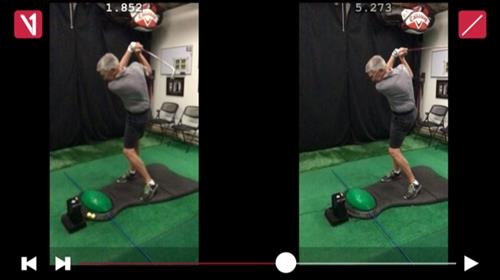 "V1 video swing analysis "" Before and After """