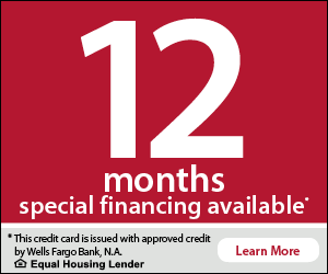 12 months no interest financing with approved credit.  Call us for details!
