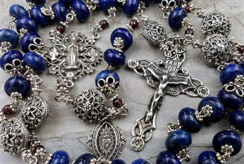 Sterling Lapis Lazuli Stress Anxiety Rosary