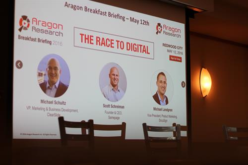 Aragon #RaceToDigital Breakfast Briefing 5/12/16