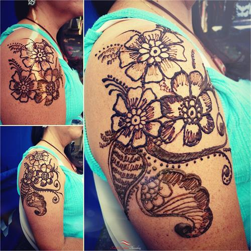 Shoulder Henna art by Neha at Kapila Eyebrow Threading Morgan Hill. Thanks for all the love and support!! ????Eyebrow Threading $7.99????  ? 408-831-2769 ?  ?? 16400 Juan Hernandez Dr Morgan Hill??  ?? Mon to Sun 8amto10pm ??  ??????Click Me?????? www.kapilaeyebrowthreading.com