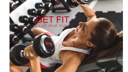 "GET FIT ""We lift and inspire"""