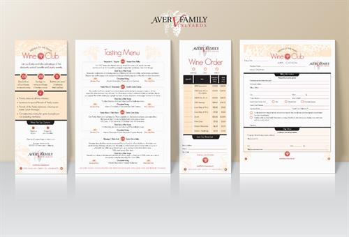 Flyers & Forms_Aver Family Winery//Gilroy