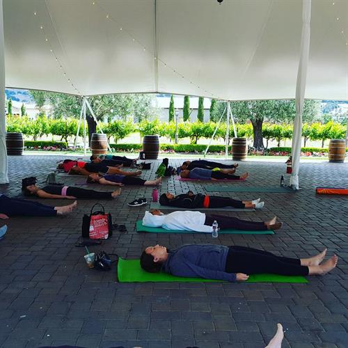 Guglielmo Yoga in the Vines Savasana