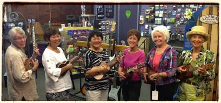 "One of our more eclectic interest groups - the ""Ukuladies"""