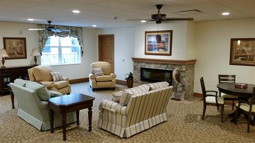 Cozy family rooms for our residents and their families