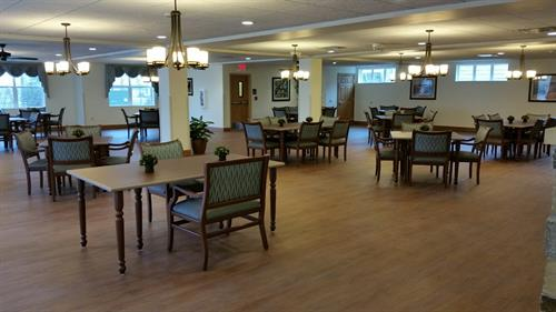 First floor dining room where our residents receive 3 home cooked meals a day