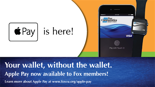 Fox Communities now offers Apple Pay!