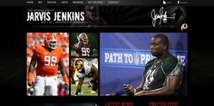 Website design by Stellar Blue for NFL player Jarvis Jenkins