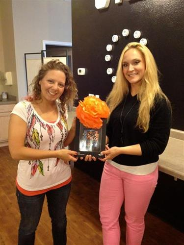 The winner of our Facebook Keyword Contest. She received a Kindle Fire!