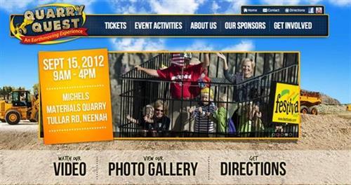 Website design by Stellar Blue for Quarry Quest