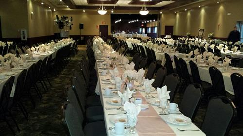 Lineville banquet hall-seating for 480 guests!