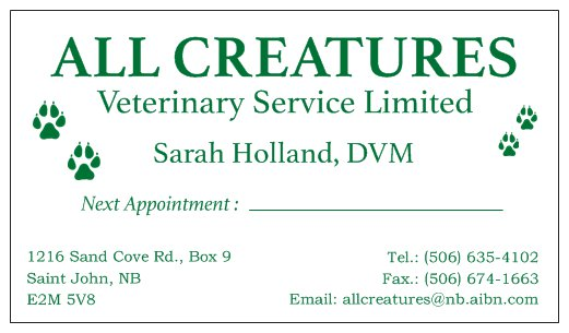 All Creatures Veterinary Service Limited