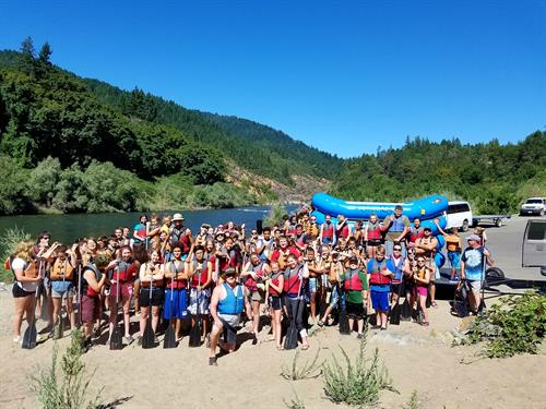 Annual Teen Raft Trip courtesy of Galice Resort