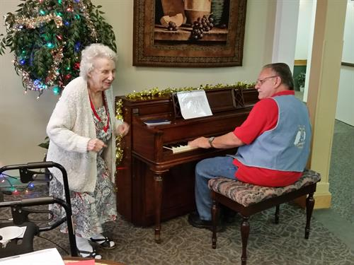 Music and dancing go hand in hand at Redwood Terrace!