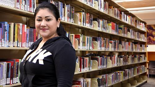Juliette in the RCC Library