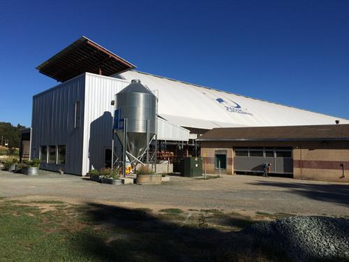 Rogue Creamery Dairy Milking Parlor,Silo & solar panels