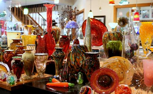 One of the many Gallery Collections featuring one-of-a-kind glass work