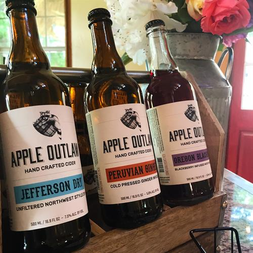 Apple Outlaw is handcrafted in small batches of cider.