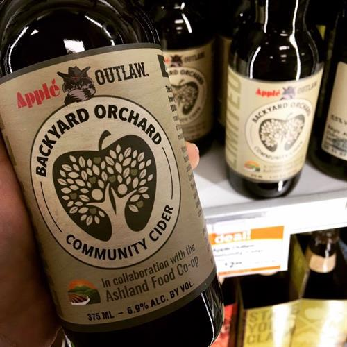 With the help from the Ashland Food Co-op and the local community, Apple Outlaw pressed and fermented local unwanted fruit into an annual community cider. The proceeds of this cider went to the Ashland Food Project.