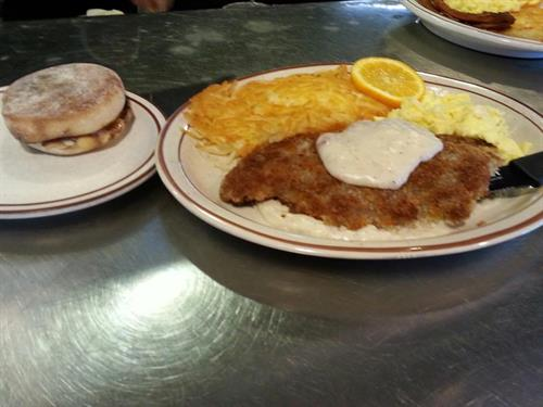 Chicken Fried Steak Is One of Our Specialties