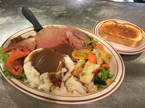 Prime Rib Dinner- Available Every Friday and Saturday evening