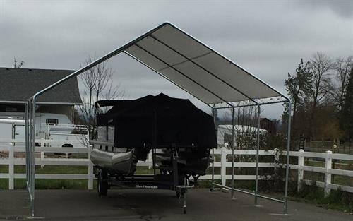Keep it covered rain or shine with galvanized steel frames and heavy duty covers
