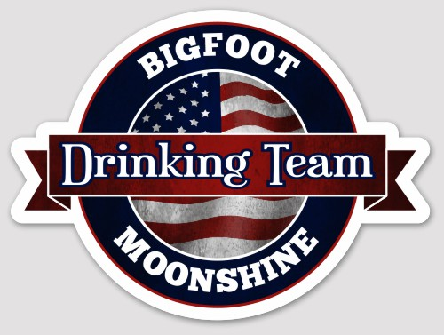 Bigfoot Moonshine Drinking Team Sticker