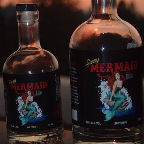 Award Winning Gold Sassy Mermaid Rum Bottles
