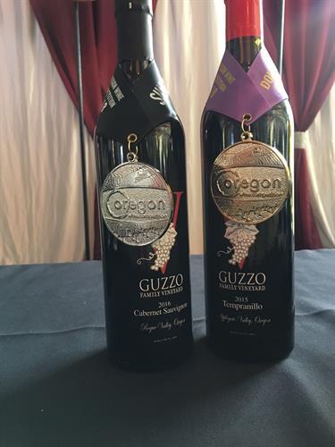 2018 Oregon Wine Experience Double Gold Tempranillo 2015 Silver Cabernet Sauvignon