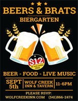 BEERS & BRATS ~WOLF CREEK INN