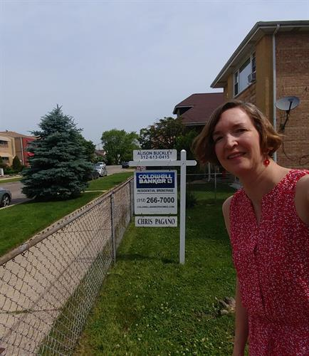 Alison Buckley's Selfie with Coldwell Banker's Nice Pad Team For Sale Sign