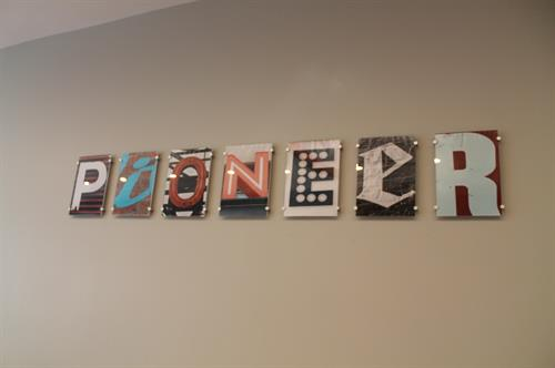 Fun artwork created from local Lakeview signage