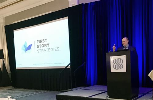 First Story's Randy Ford delivers remarks in Louisiana about how today's media climate affects local communities.