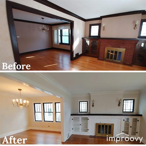 interior trim painting lakeview, chicago, il