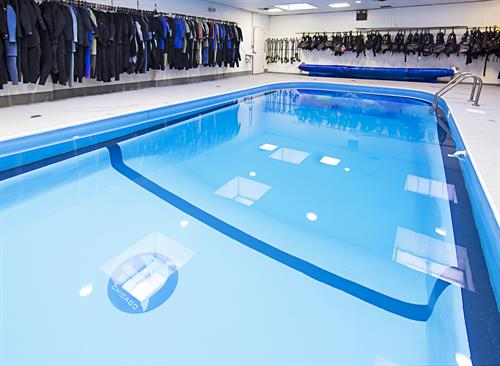 Our in store heated pool!